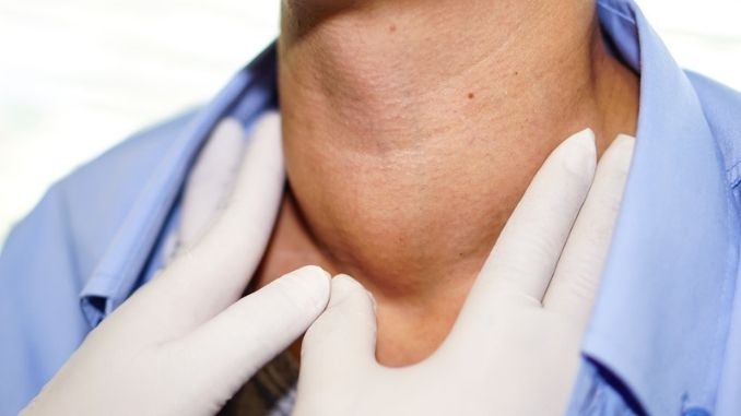 abnormal enlargement of thyroid gland