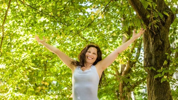 Happy woman in menopause